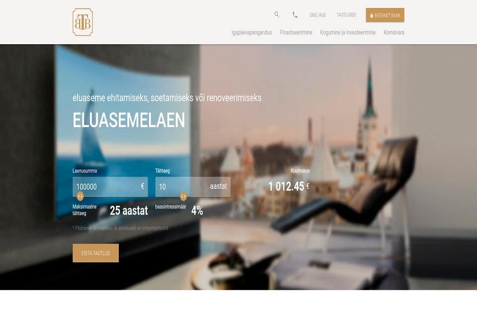 Tallinna Äripankin verkkosivusto